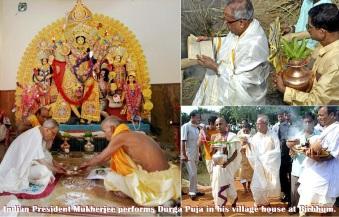 Pranab worships Durga