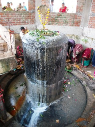 Bhusandeswar, the largest black granite Shiva Linga in Asia.