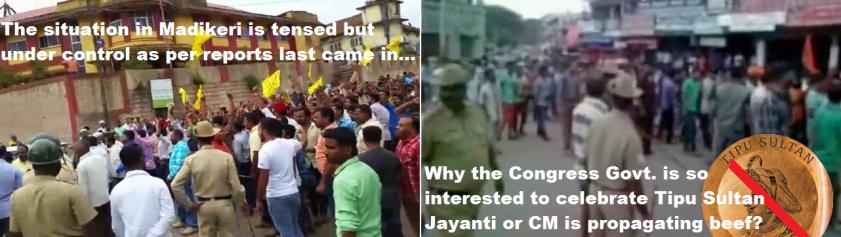 Kodagu Madikeri Riot on Tipu Jayanti