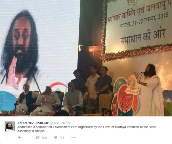 Sri Sri at Global Warming Prevention and save the Nature prog at Bhupal