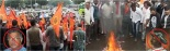 Anger also flared over the death of a VHP leader during a bandh on the issue called by the BJP in Kodagu district on Tuesday and the culpable state glorification of anti Hindu Tipu Sultan.