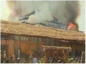 Fire at Ayuth Chandi Yagam
