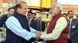 The Prime Minister, Shri Narendra Modi warmly received by the Prime Minister of Pakistan, Mr. Nawaz Sharif, at Lahore, Pakistan on December 25, 2015.