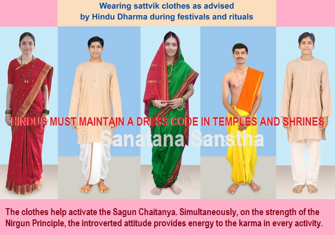 dress code for devotees visiting hindu temples and shrines