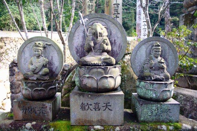 Ganesh, Lakshmi and Saraswati in Japan.