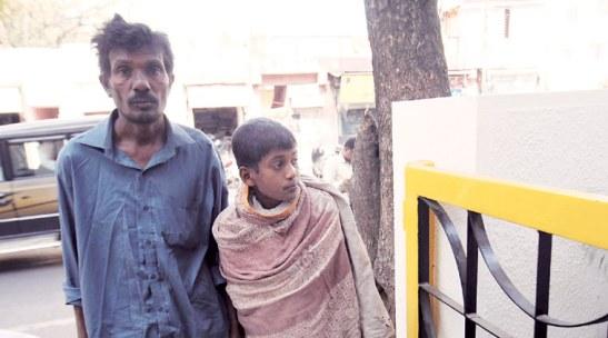 Savan Rathod's father and brother in Pune. (Source: Arul Horizon).