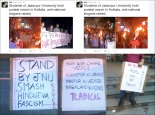 Jadavpur Protest against Indian Integrity