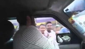 Asad's Car attacked in Adilabad