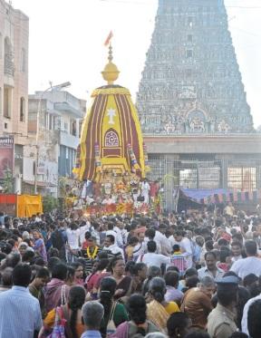 Rath yatra at Kapaleeswarar Temple