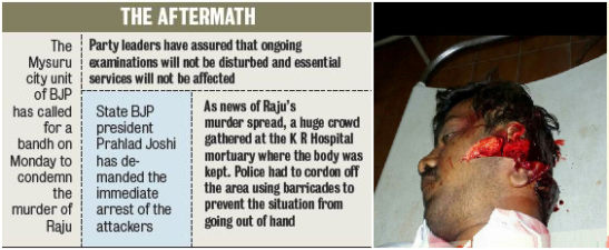 the aftermath- k raju murder