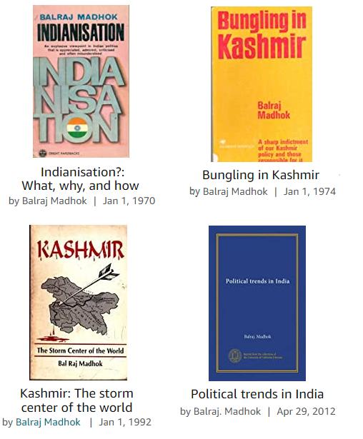 Books of Balraj Madhok