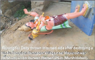 HE pic- Hanuman Temple destroyed by Muslim OC of Mayureshwar PS.