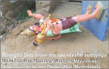 HE pic- Hanuman Temple destroyed by Muslim OC of Mayureshwar PS.