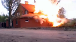 The prayer house was detonated by a water cannon. | Photo: Russia's Federal Security Service (FSB)