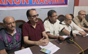 Press Con by Panun Kashmir at Jammu on 6th May 2016