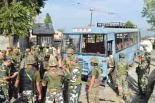 Pak Terror attack at Pampore on CRPF Bus