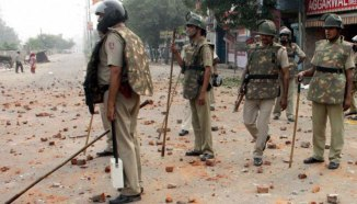 In a clash of Hindu and Muslims in Aligarh. File photo.