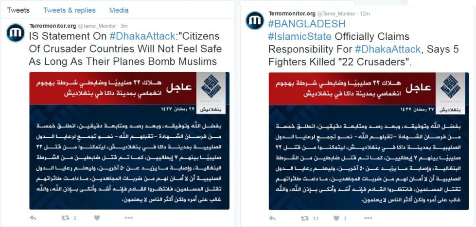 ISIS on Fridayb Terror Attack on Dhaka