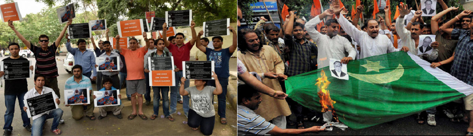 Protest near Pak High Commission ND