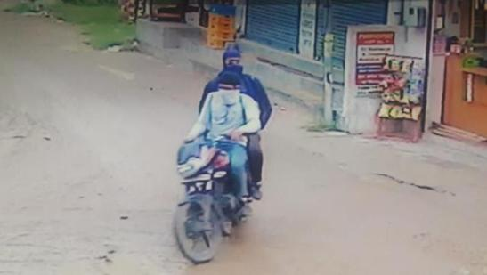 A CCTV grab of the attackers released by the police in Jakandhar on Monday. (HT  Photo)