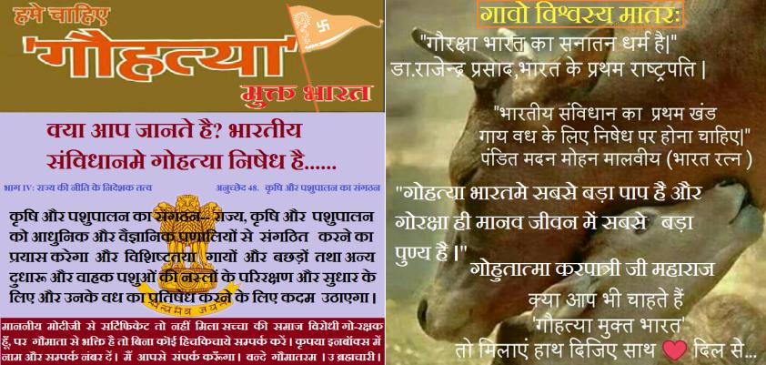 Gohatya Mukt Bharat