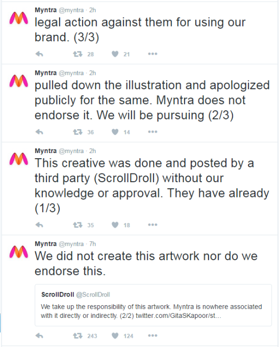 Under Hindu furor in Twitter, Myntra apologized & pulled down the  objectionable 'Lord Krishna Ad'. | Struggle for Hindu Existence