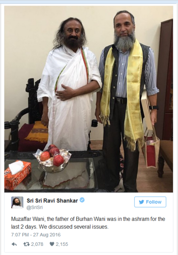 Sri Sri Tweet on Wani