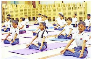 school-children-in-yoga