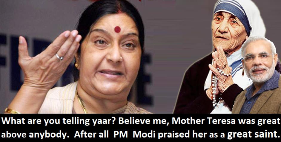 Sushmas on Mother Teresa