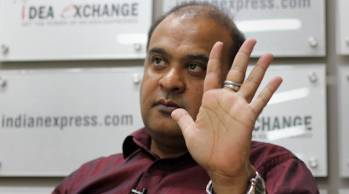 Himanta Biswa Sarma, Minister for Education, Health and Finance (Assam), at Idea Exchange. Express photo by Cheena Kapoor 290616