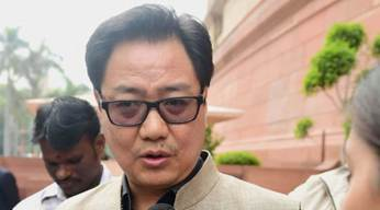 Kiren Rijiju, MoS, Home Affairs, GOI.