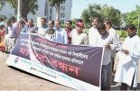 Shadhinata Shikha Parishad in Khulna University organises a rally yesterday on the campus protesting the recent attacks on Hindus throughout Bangladesh DHAKA TRIBUNE