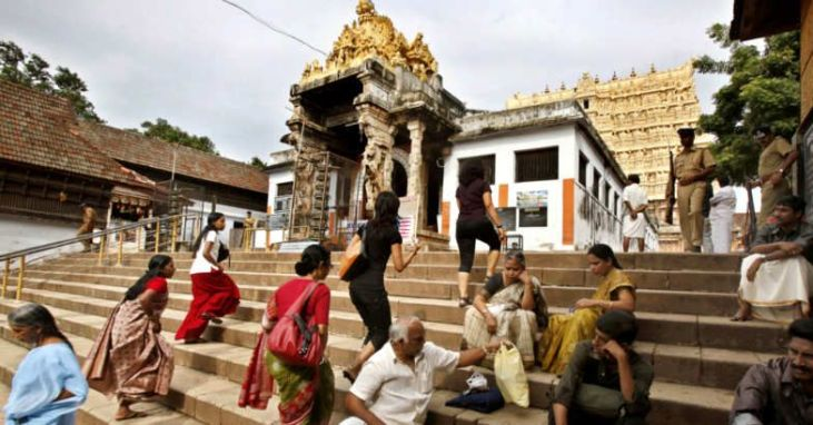 Sree Padmanabhaswamy Temple in Thiruvananthapuram... Read more at: http://english.manoramaonline.com/news/kerala/kerala-hc-rejects-churidar-padmanabhaswamy-temple-dress-code.html