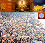 The long queue of pilgrims at lower thirumuttom of Sabarimala Lord Ayyappa temple on Tuesday. Pic Courtesy: Shaji Vettipuram - ENS.