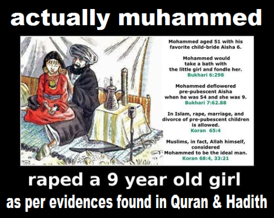 Muhammad raped in Quran and Hadith