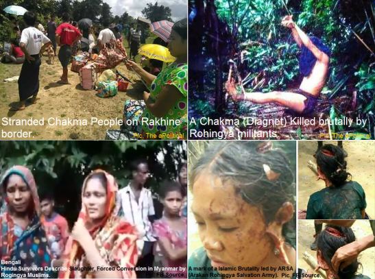 Rohingya Muslims attack on Hindus and Chakmas