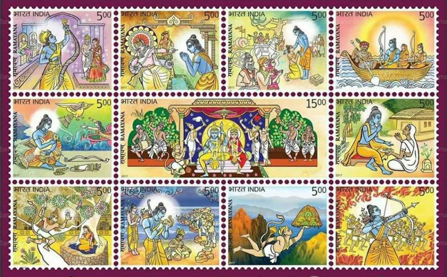india post releases ramayana stamp series struggle for hindu