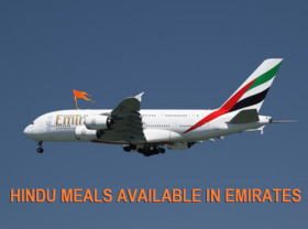 HINDU MEALS AVAILABLE IN EMIRATES
