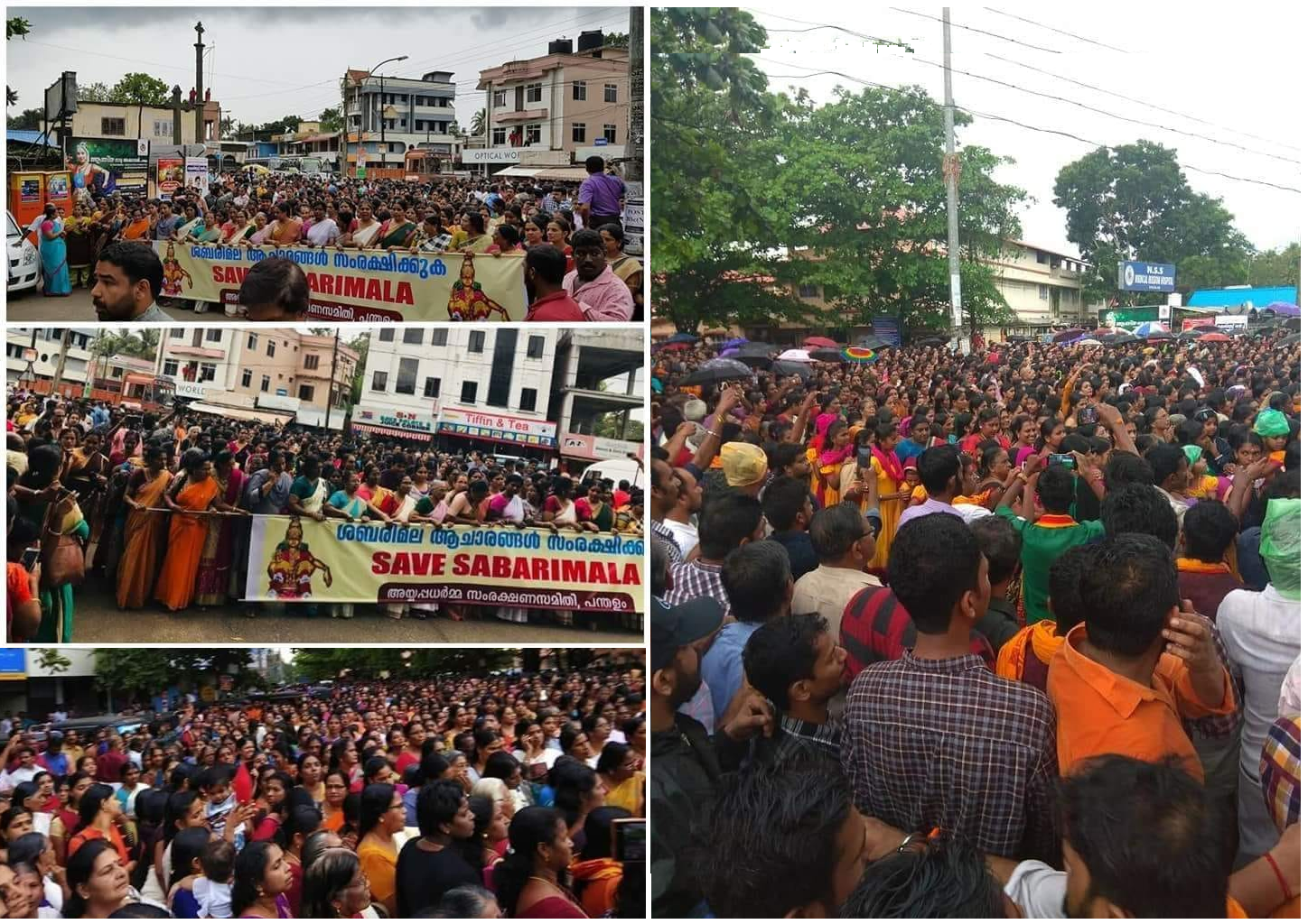 Thousands protested against SC verdict allowing Women in Sabarimala Temple