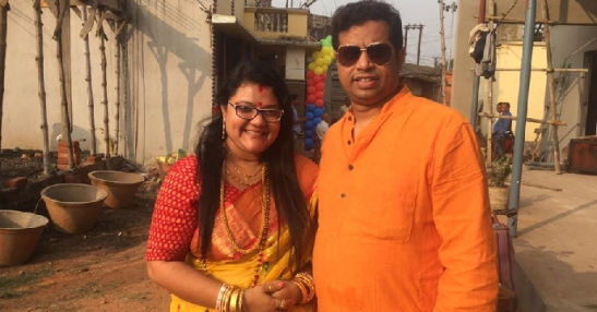 Sujata and Soumitra Khan. Spirited Hindu nationalist couple in BJP.