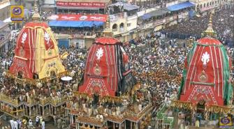 Rath Yatra 2019. Pic: DD National.