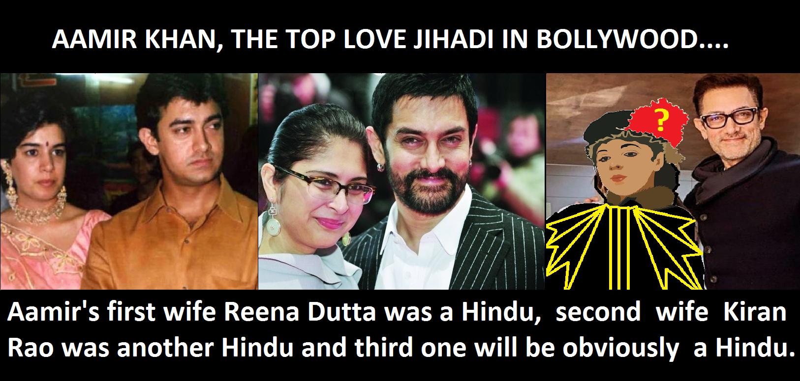 Aamir Khan - The Top Love Jihadi in Bollywood