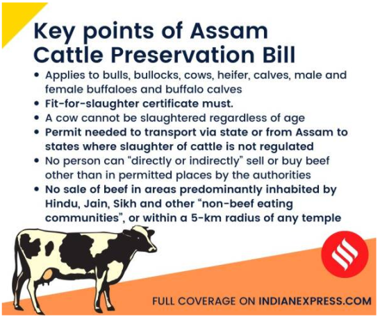 Assam Cattle Preservation Bill 2021
